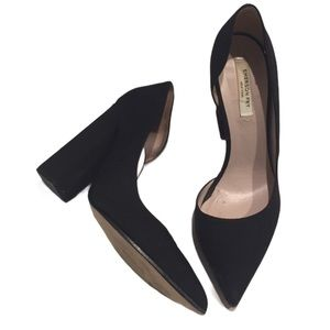 Emerson Fry NY shoes black heels pumps 37